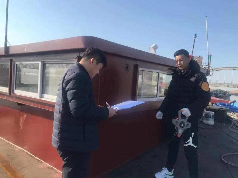 新沂河船闸强化船舶稽核显成效