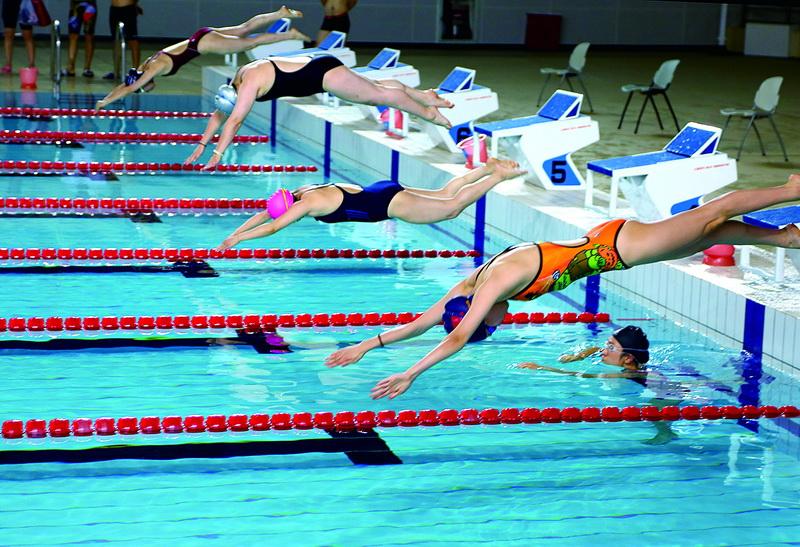 市第二屆職工健身運動會游泳比賽舉行