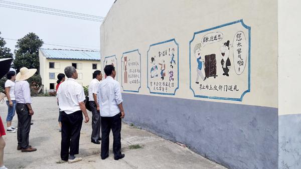 刘寨镇初级中学校园文化建设自查报告