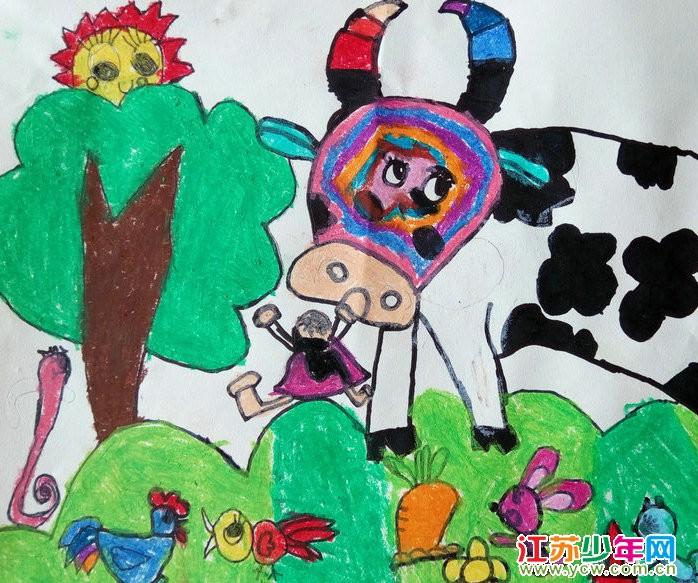 黄钰琪  绘画作品 《奶牛》